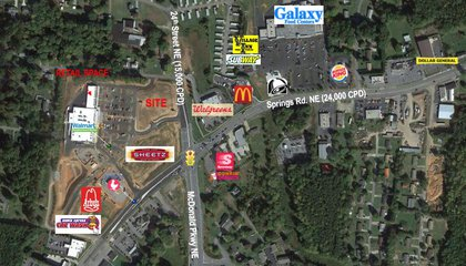 Retail Space and Outparcel for Sale Springs Rd